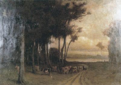 Crépuscule dans la plaine de Billère, 1895