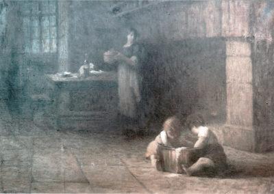 Dans la cuisine, 1906