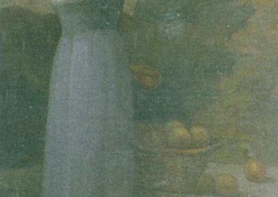 Femme cueillant des fruits. Villa San Carlos, Pau, 1910