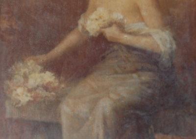 La fleuriste. Ville L'Hermitage, Pau, 1900
