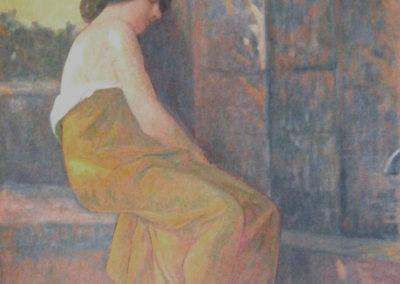 La porteuse d'eau endormie. Villa Etchechurria, Pau, 1909