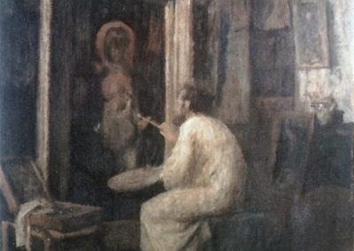 L'artiste au travail, 1916
