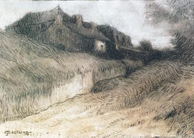 Le chemin de la ferme, 1900