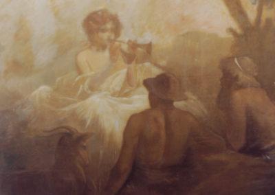 Scène mythologique (Les bergers d'Arcadie ou Thalie). Villa Riquoir, Pau, 1901