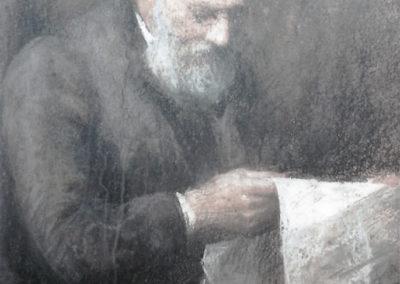Vieillard lisant le journal, 1912